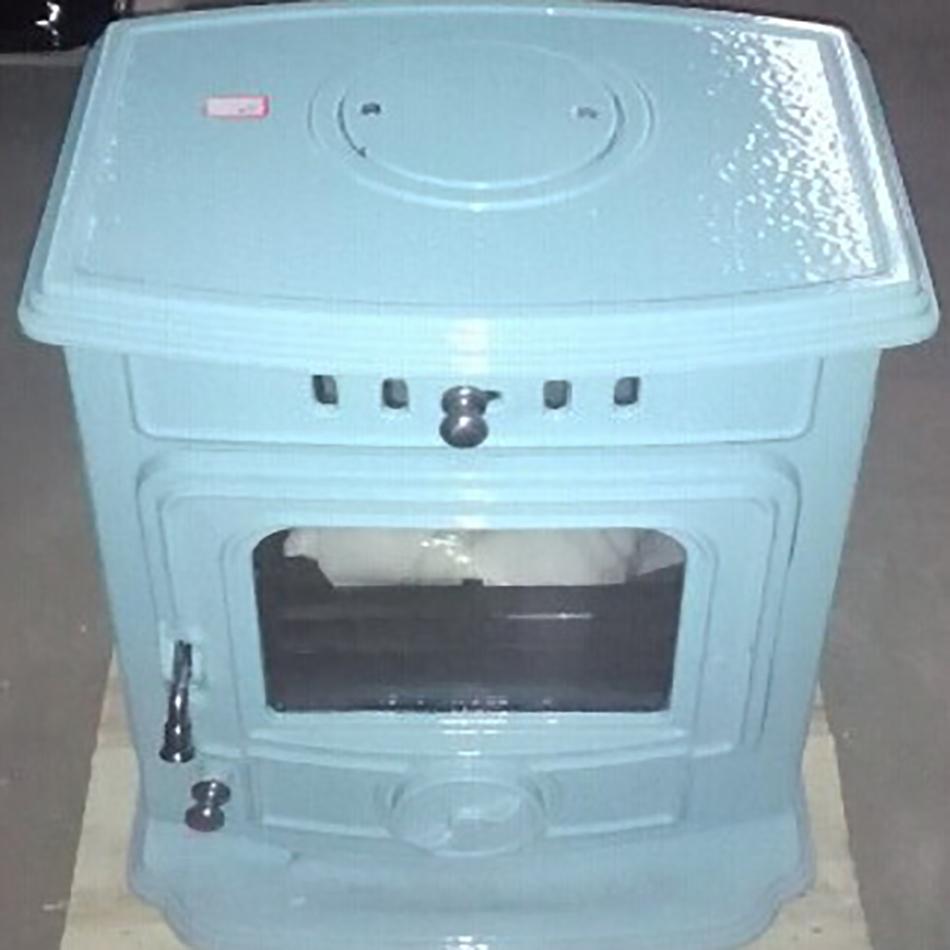 Best Selling High Polished Cast Iron China Blue Ceramic Wood Stoves ...