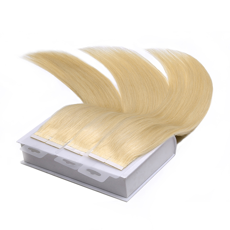Luxury double drawn tape hair extensions remy straight