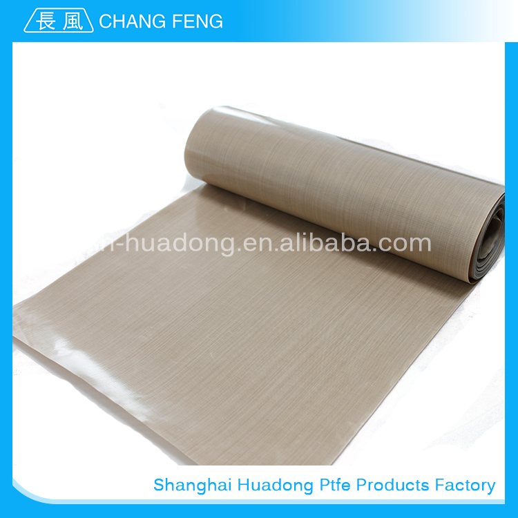 Manufacturer ptfe coated glass fabric with yellow release paper