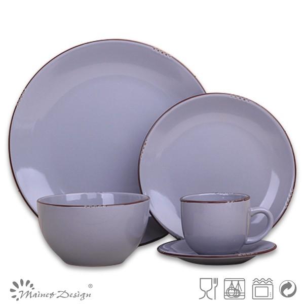 Steinzeug Geschirr keramik 20 stücke geschirr einfarbig 20 stücke geschirr set