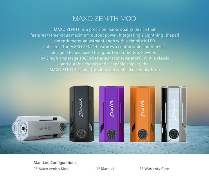 2017 Most Popular Electronic Cigarette Ijoy Maxo Zenith Box Mod In ...