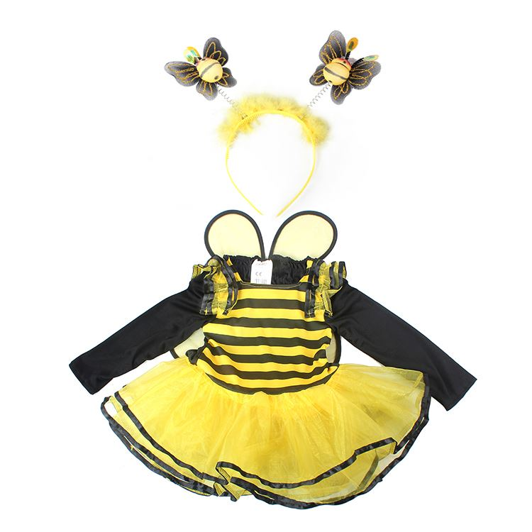Customized Festival Celebration Cute cartoon bees Cotton mascot costumes with butterfly hairband