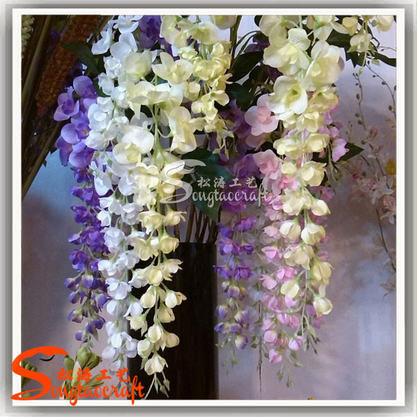 factory direct artificial silicone flowers wisteria cheap wholesale artificial flowers artificial flower for wedding decoration