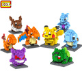 LOZ Mini Poket Monster Pikachu Toys Charmander Bulbasaur Squirtle Mewtwo Eevee Anime Model Blocks Anime Building
