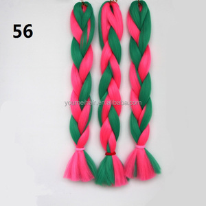 New Arrival Two Tone Synthetic Ombre Marley Hair Braid Synthetic Hair Extensions Braids Hair Braid Made of Synthetic Fiber
