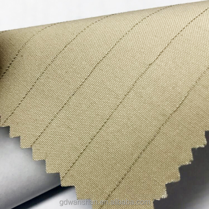 "AT-5005 Beige 56"" width stripe T/C Fabric, bookbinding fabric"