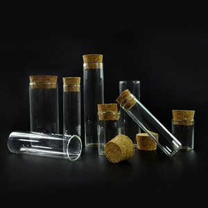 5ml 10ml 15ml 20ml 30ml 50ml 100ml clear pendant Wishing bottle glass Vial with cork stopper