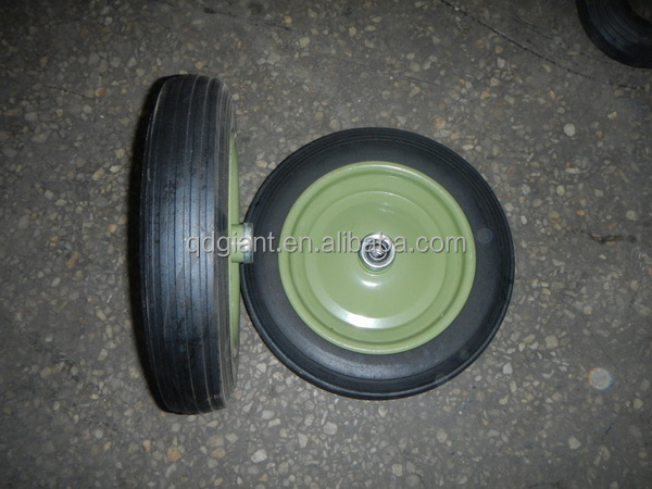 13 inch solid rubber wheel for wheelbarrow/Rubber Powder wheel