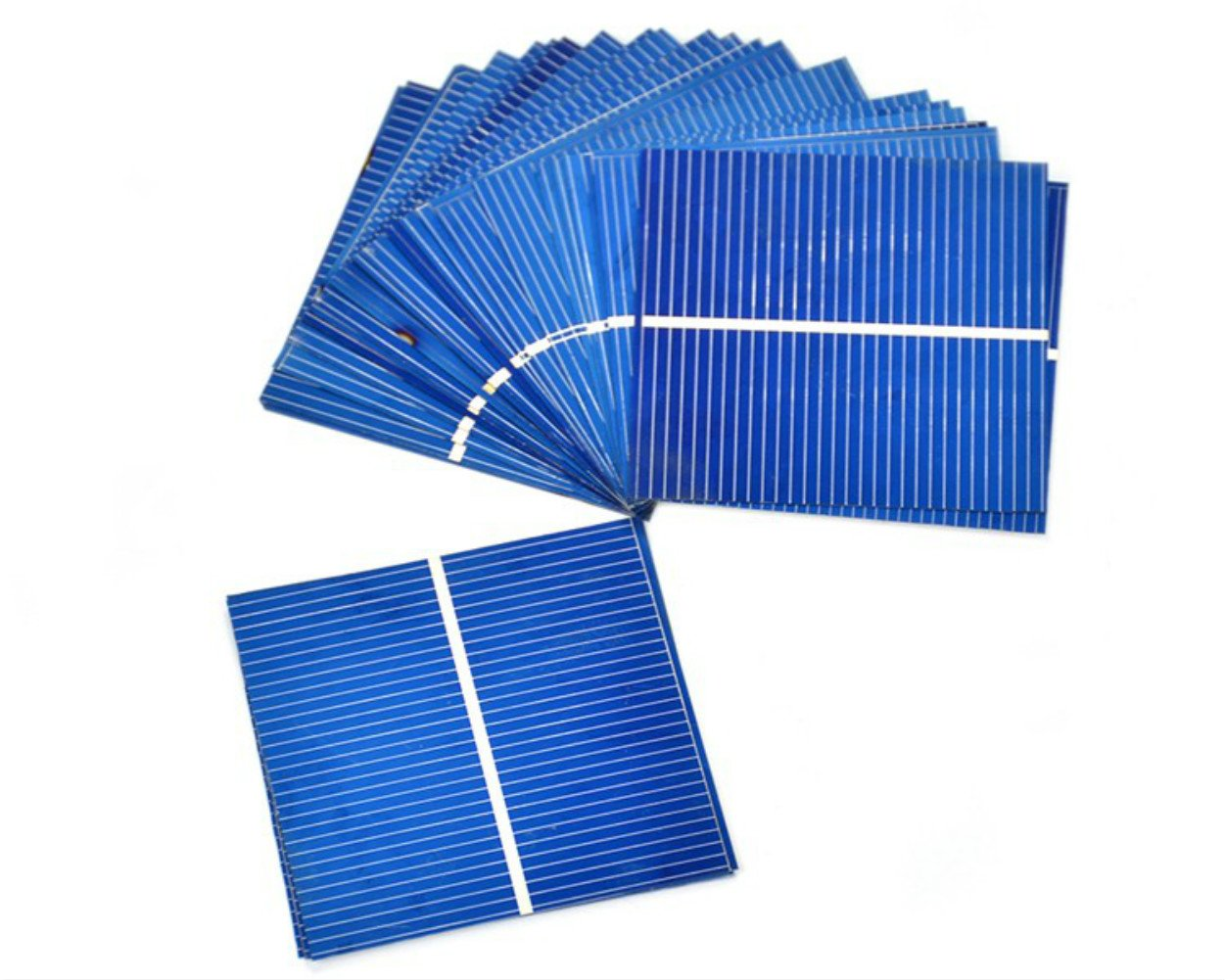 Aoshike 50pcs Mini 52x52MM Micro solar panel for DIY Polycrystalline solar cell DIY cell phone charging Sun Power battery charger