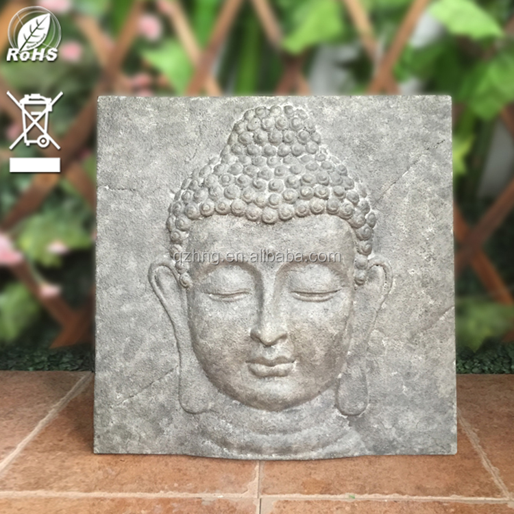 Home And Garden Stone 3D Hanging Plaque Buddha Wall Sculpture