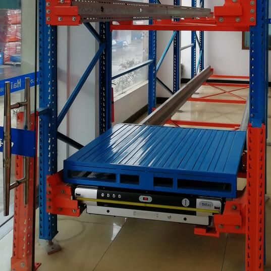 Heavy duty high density radio shuttle electric mobile warehouse pallet rack