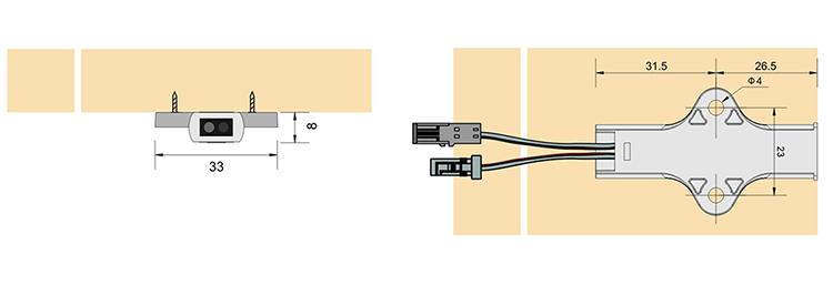 Led Cabinet Light Factory Door Switch Sensor For Cabinet ...