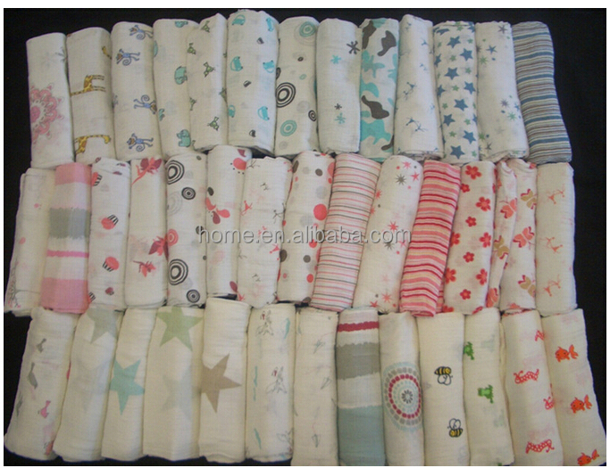 100 Cotton Printed Muslin Double Layers Baby Muslin Squares Muslin
