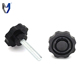 Zinc plating surface flower plastic head thumb screws
