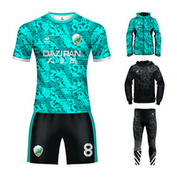 customize slim fit football shirts wholesale sublimation full set digital printing football jersey soccer kits