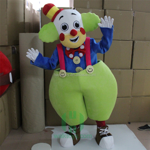 HI factory funny clown mascot costume custom made carnival mascot costumes excellent lyjenny for sale for adults