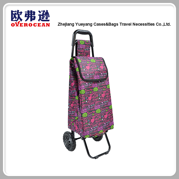 Custom various fashion styles shopping wheeled trolley bag