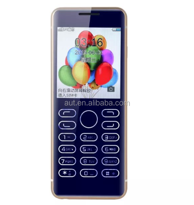 2016 new design touch Capactive Touch key 2.3 inch single sim luxury feature mobile phone