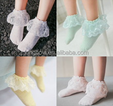 2017 Fashion Lace Socks Cute Young Girl Tube Socks Teen Tube Socks