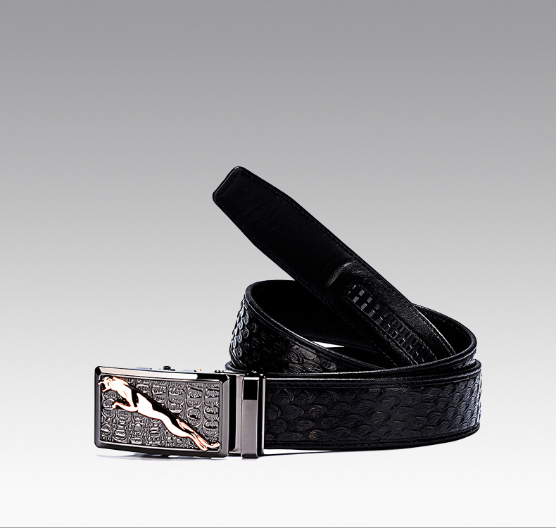 Authentic Python Leather Men Belt 3.8cm