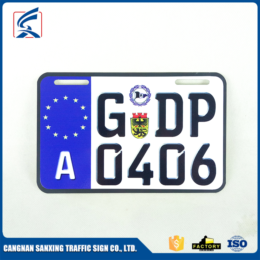 Best Sale European Number Plates Aluminum Custom Car License Plate
