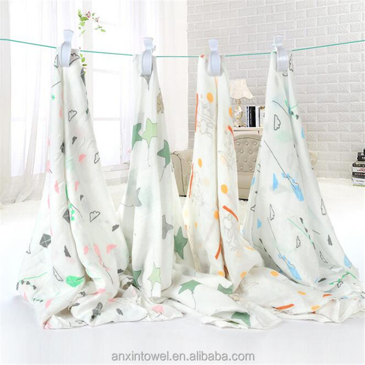 manufacturer private label newborn baby bamboo muslin swaddle blankets