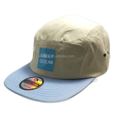 Waterproof and Lightweight 5 Panel Running Hat Sports Cap with Custom Woven Label Patch