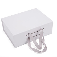 High Quality Corrugated White Varnishing Flower Custom Satin Lined Box Design 30cm Hard Cardboard Gift Boxes