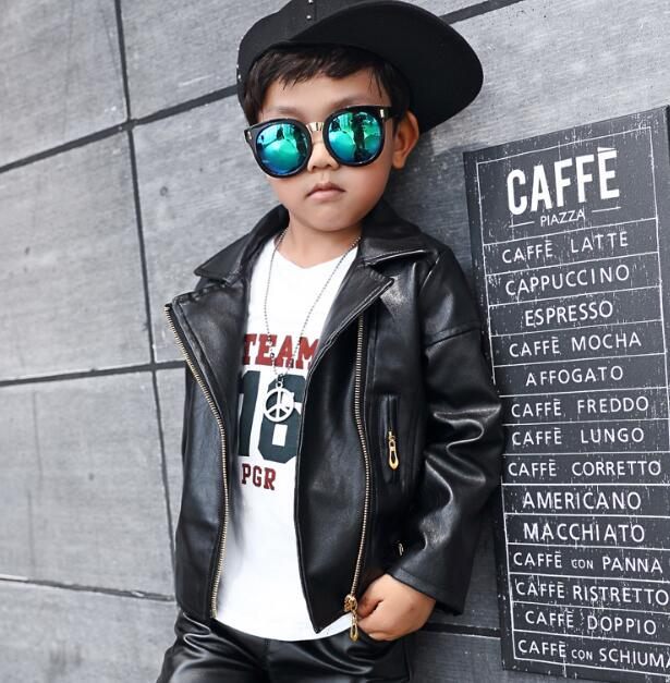 zm32772a korean style cool baby boys wears jeacket in new model fashion leather coat