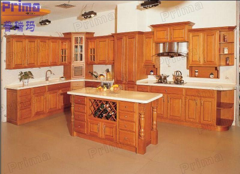 Popular American Style Vinyl Wrapped/pvc Kitchen Cabinets