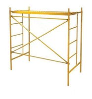 Galvanized Painted Ladder H Frame walk through scaffolding frame for Building