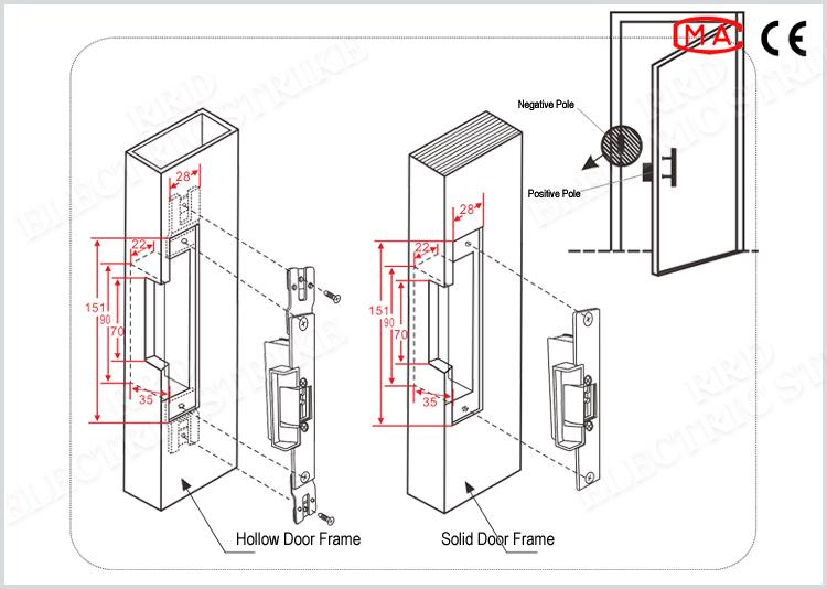 Rrd bloqueo ES1343 control remoto universal huelga eléctrica para ...