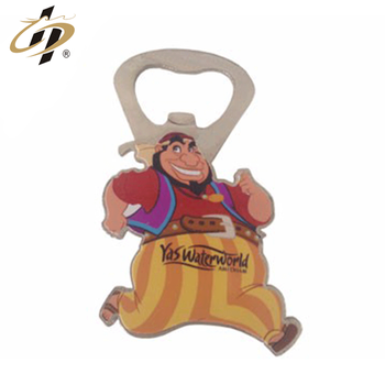 2019 Wholesale silver custom casting magnetic cartoon character  bottle opener