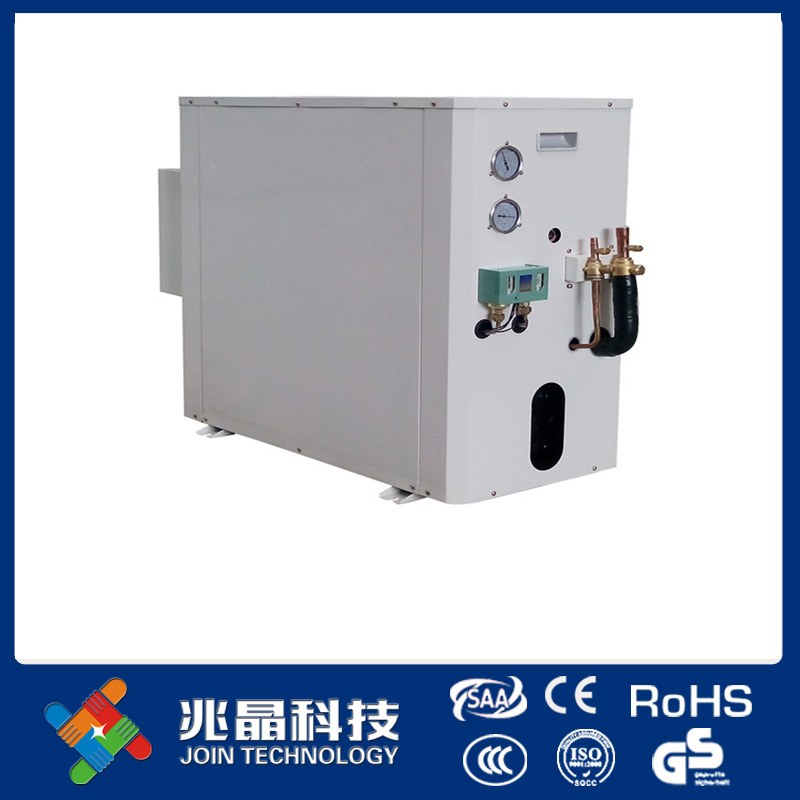 Variable water proof ice maker with water cooler condenser