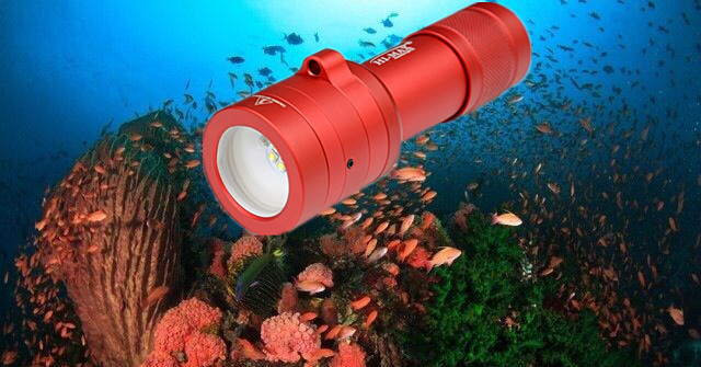 China factory supply underwater IP65 white/red scuba diving led video light photo gallery