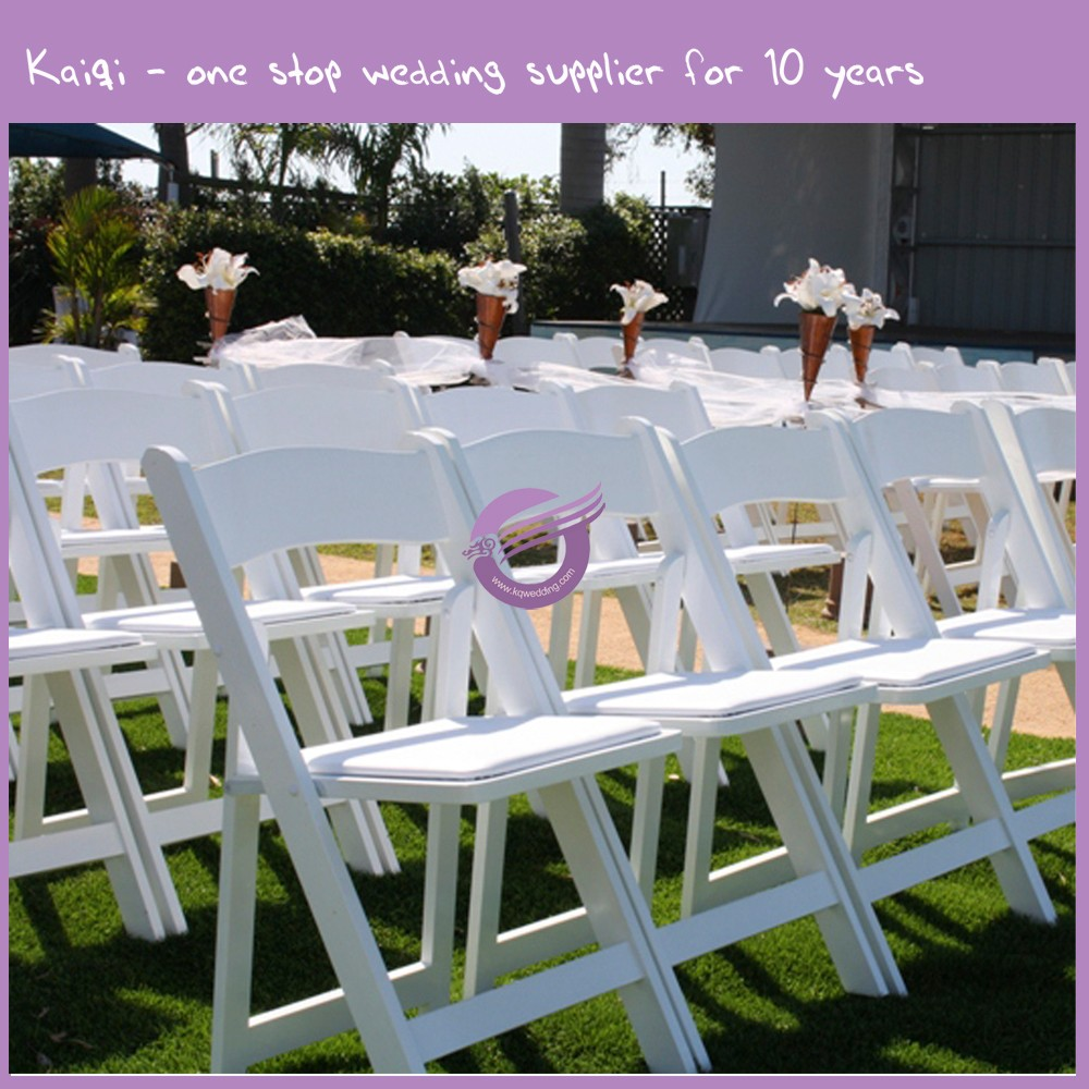 Zy39190 Wedding Event Rental Wholesale White Resin Wooden Folding Chair