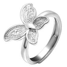 Yiwu Hainon trouwringen Nieuwkomers 2018 Sweet lady vlinder zilver <span class=keywords><strong>plating</strong></span> ringen sieraden vrouwen