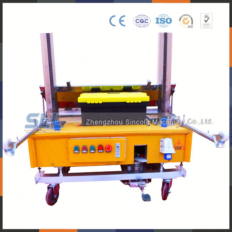 cheap automatic cement plastering machine for India market