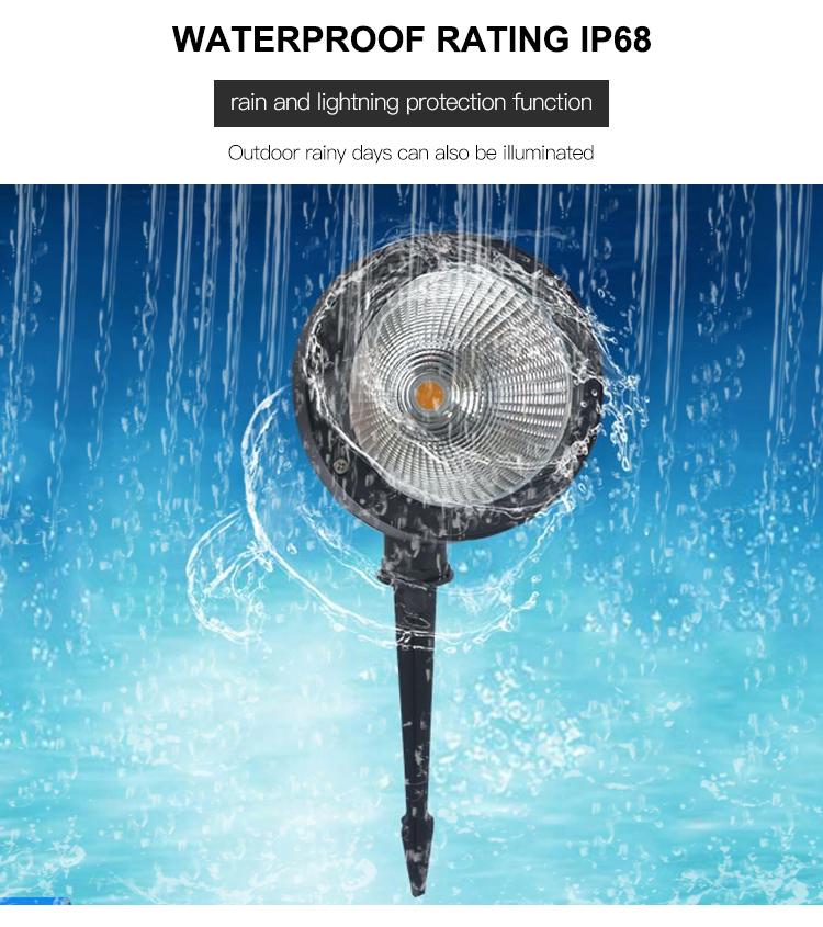 풍경 조명 ip65 waterproof 야외 장식 cob RGB 3 w led garden 빛