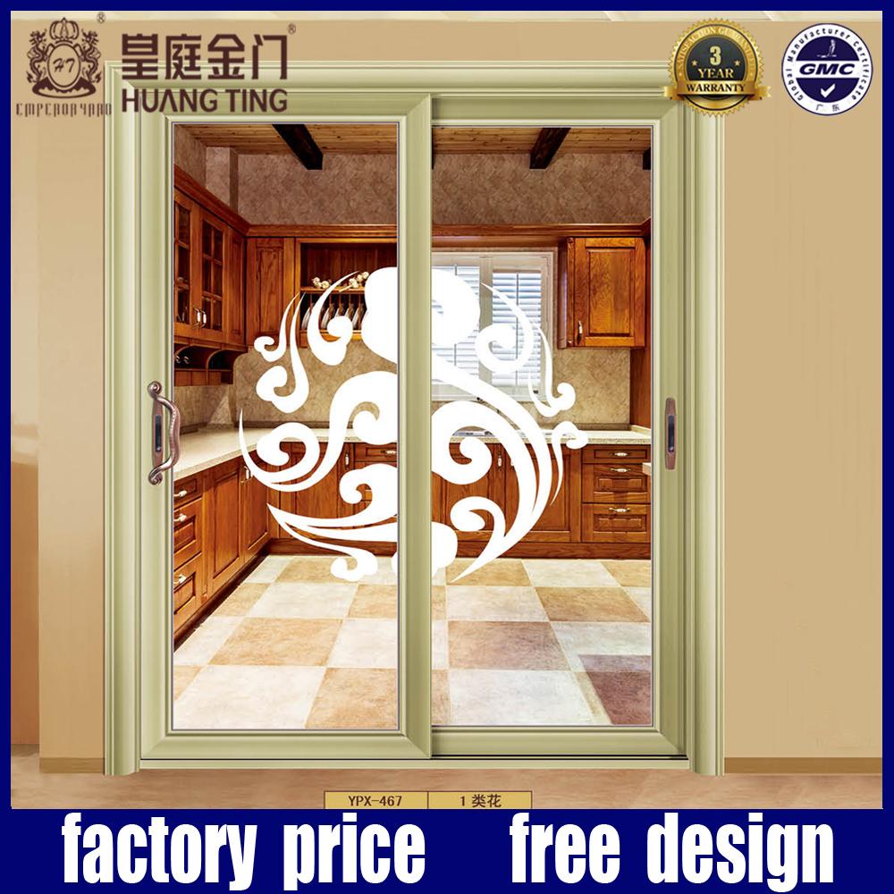 marco de aluminio con doble de madera diseo de la puerta de casa de color