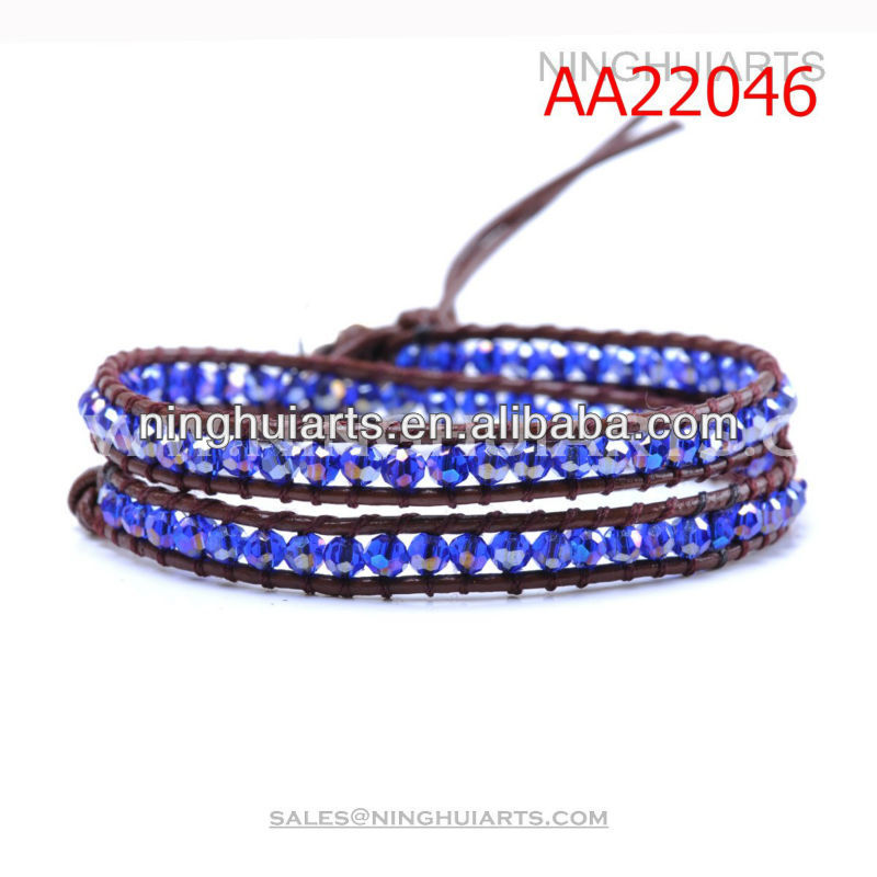 Latest product blue purple color crytal beeds jewelry