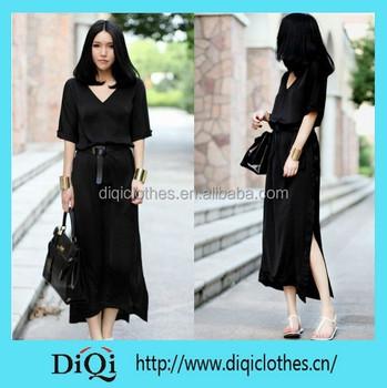 7b160de3a8 New sexy long sleeve black maxi dress chiffon long dress simple long dress