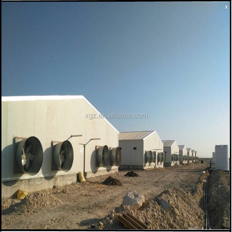 2016 New steel structure chicken poultry house for sale