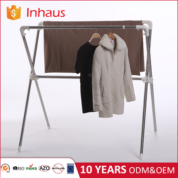 indoor outdoor stainless steel adjustable standing foldable laundry garment cloth drying rack argos