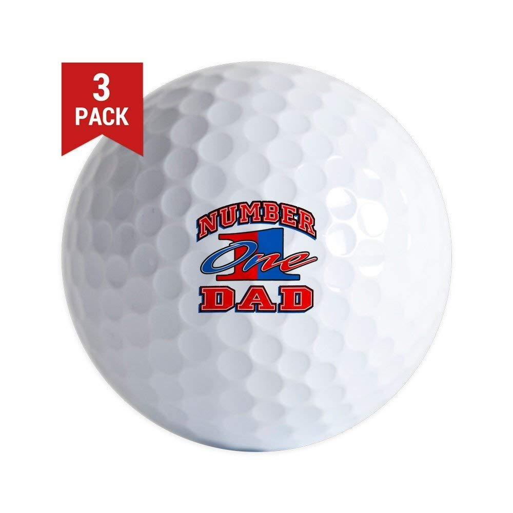 Golf Balls (Set of 3) Number One Dad Father Father's Day