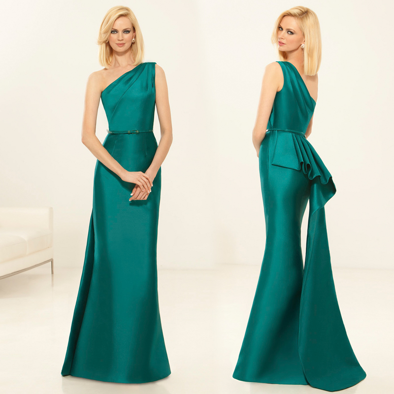 a8ad2d18e19 Summer Style 2015 New Green One Shoulder Mermaid Gown Long Mother Of The Bride  Dresses Plus Size Vestidos Madrina XMD45