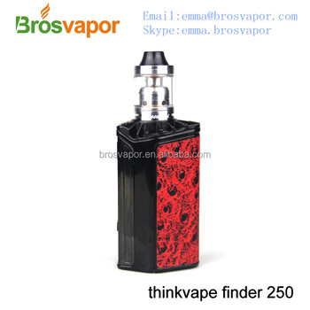 2016 New product Thinkvape Finder 250 box mod Powered By Evolv DNA 250 Chip from brosvapor