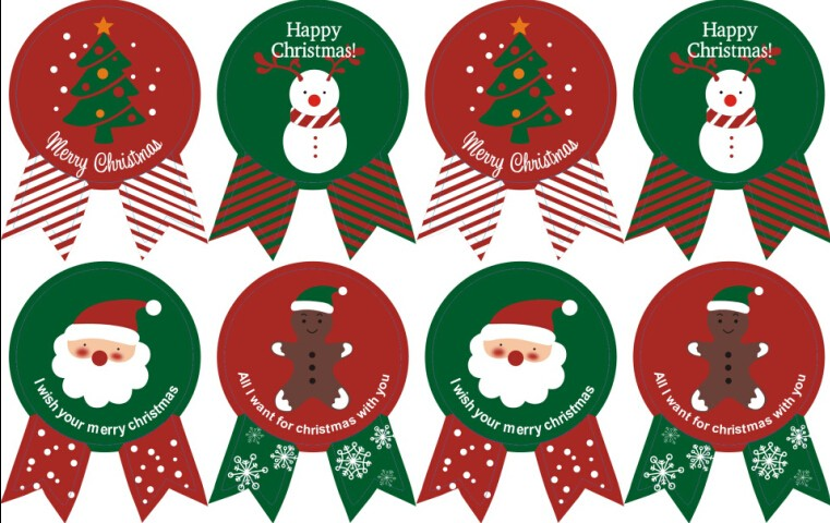 New Christmas Label Gift Package Sealing Stickers