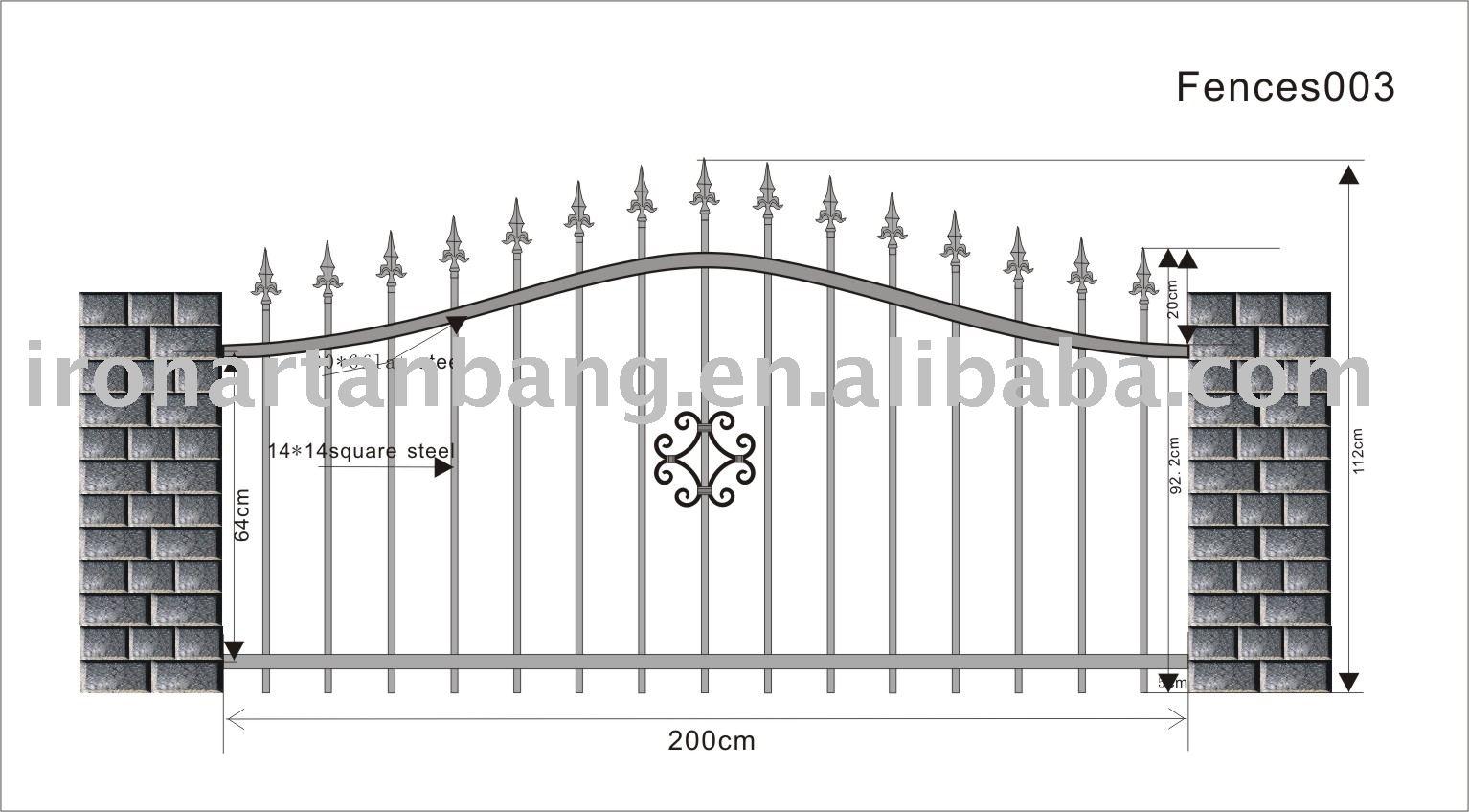 Cercas de hierro para el jard n pastizales vallas cercas for Vallas de hierro para jardin