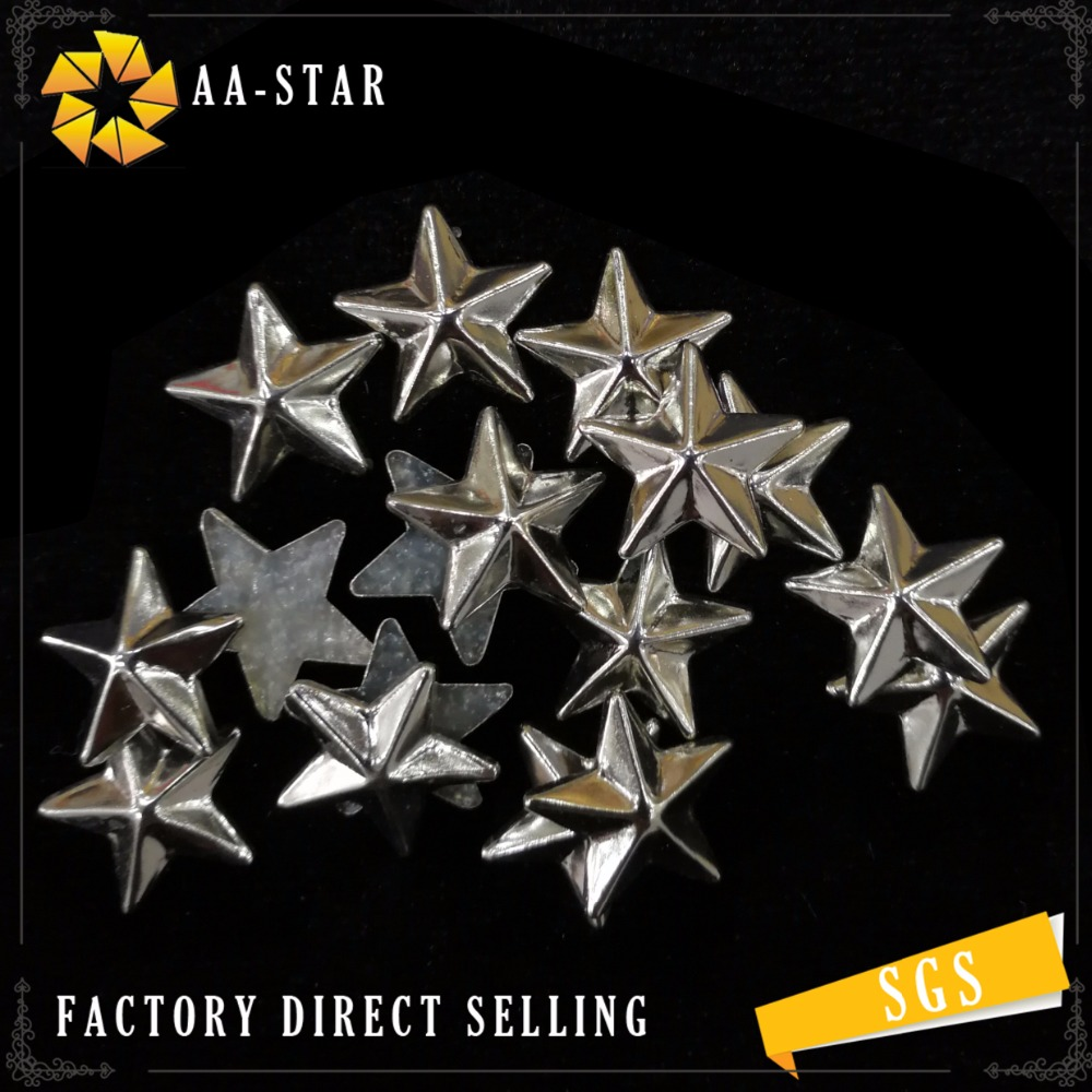 hotsale 2017 wholesale star shape iron on metal stud hotfix nailhead